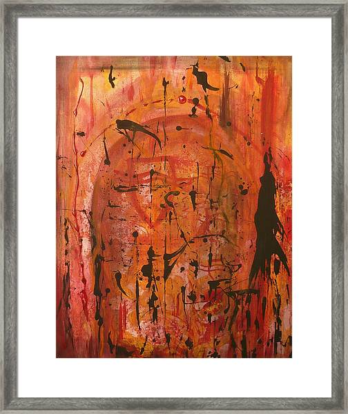 Departing Abstract Framed Print