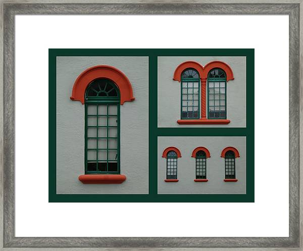Depot Windows Collage One Framed Print