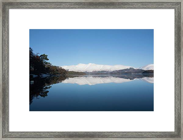 Derwentwater Winter Reflection Framed Print
