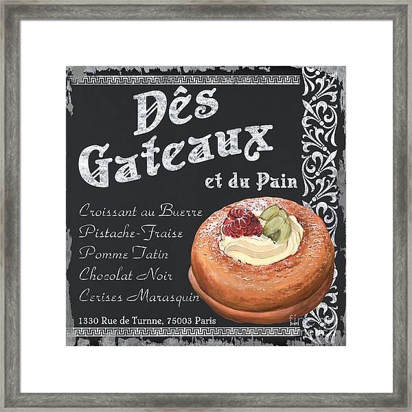 Des Gateaux Framed Print