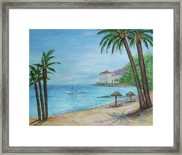 Descanso Beach, Catalina Framed Print
