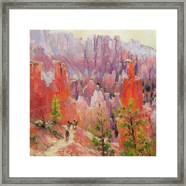 Descent Into Bryce Framed Print