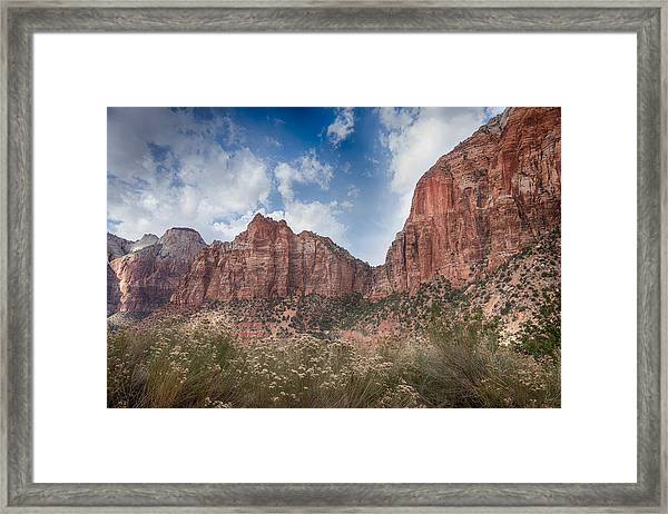 Descent Into Zion Framed Print