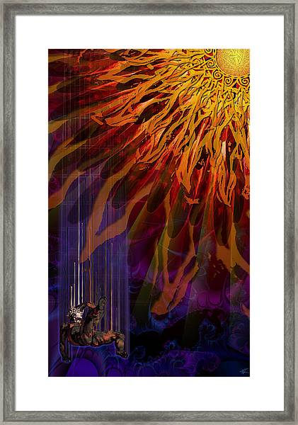 Descent Of Icarus Framed Print