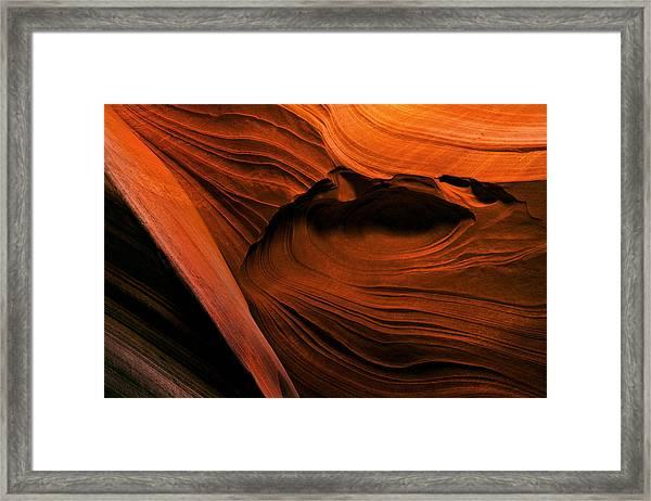Desert Carvings Framed Print