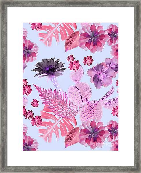 Desert Garden Framed Print