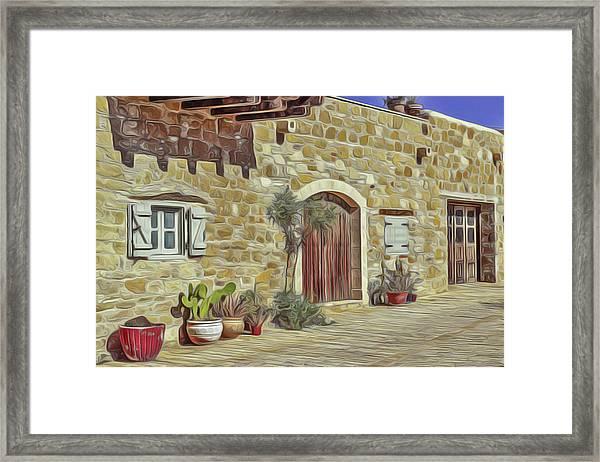 Desert House Framed Print
