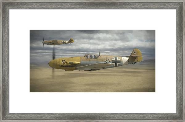 Desert Hunters - Painterly Framed Print