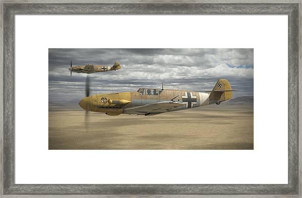 Desert Hunters Framed Print