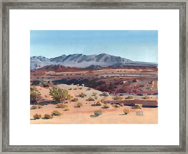 Desert In New Mexico Framed Print