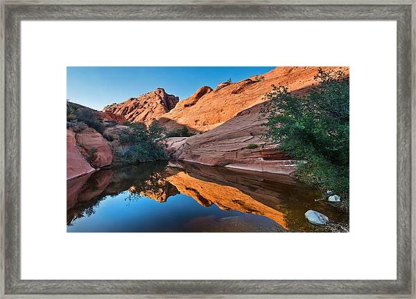 Desert Mirror Framed Print