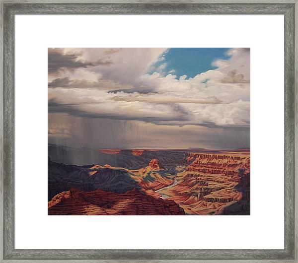 Desert Palisades Framed Print