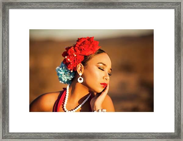 Desert Pearl Framed Print