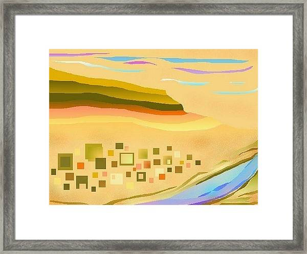 Desert River Framed Print
