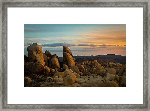 Desert Rocks Framed Print