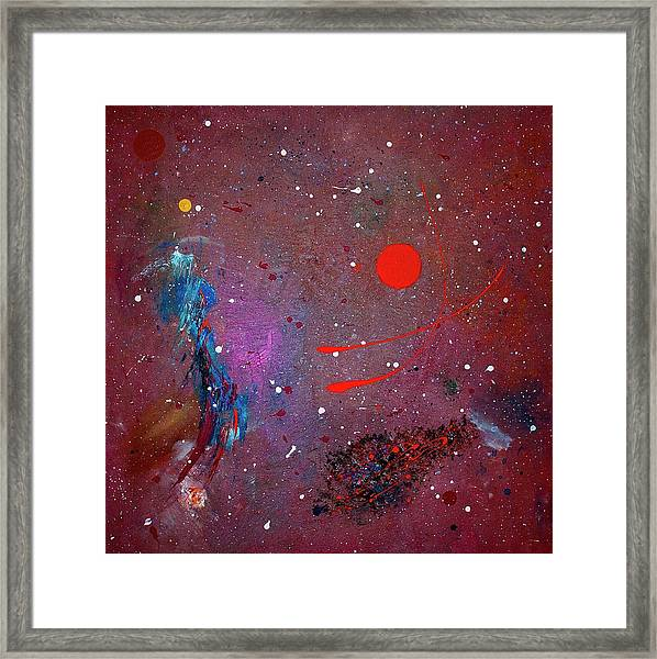 Framed Print featuring the painting Desert Song by Michael Lucarelli