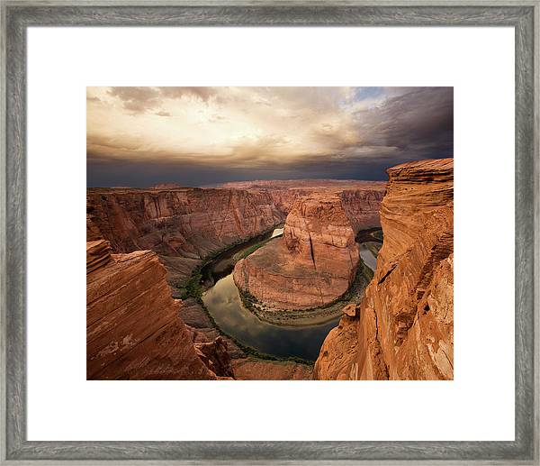 Desert Sunrise At Horseshoe Bend Framed Print