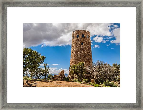 Framed Print featuring the photograph Desert View Tower Grand Canyon by Claudia Abbott