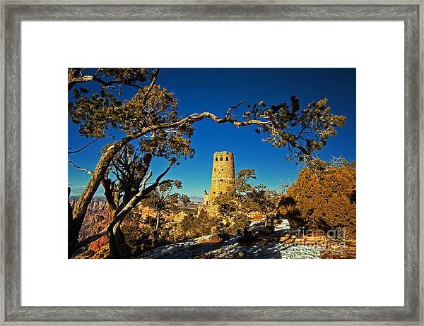 Desert View Watchtower, Grand Canyon National Park, Arizona Framed Print