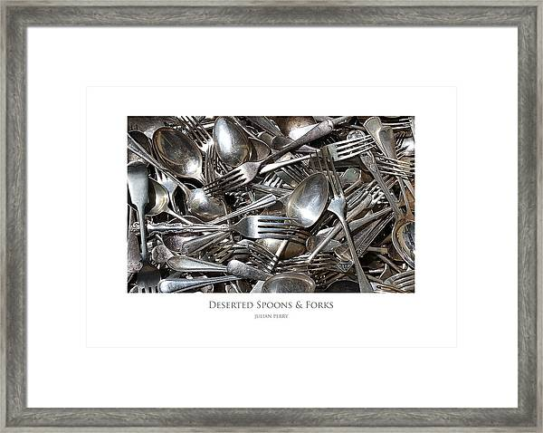 Deserted Spoons And Forkes Framed Print