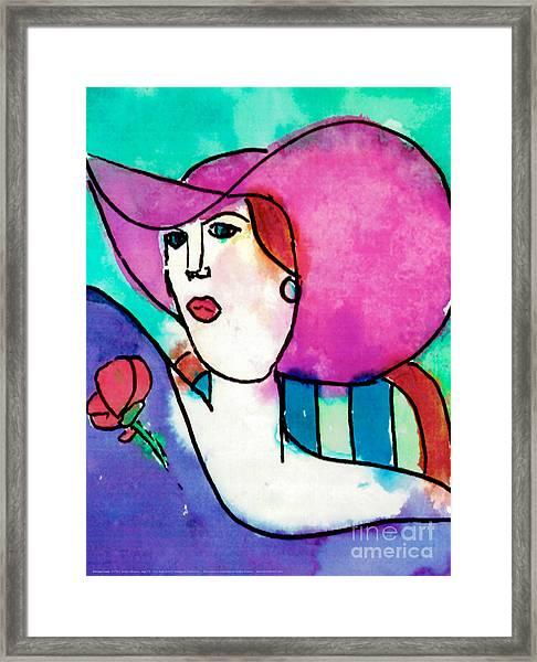 Design Lady Framed Print