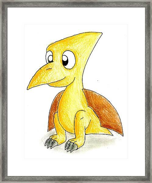 Desmond The Pterodactyl Framed Print