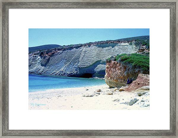 Desolated Island Beach Framed Print