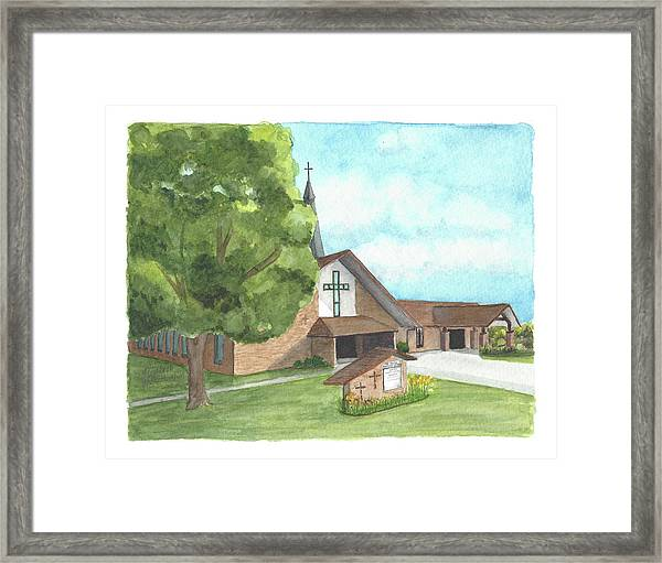 De Soto Baptist Church Framed Print
