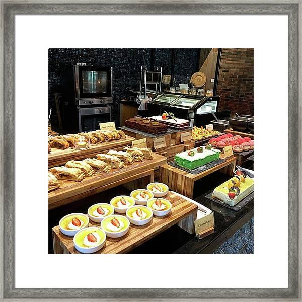 Dessert Corner Framed Print by Arya Swadharma