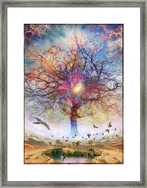 Dessert Of Forgotten Tree Framed Print
