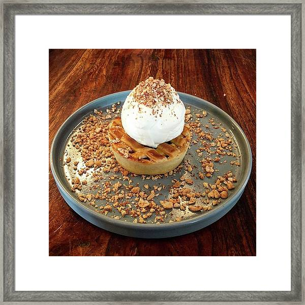 Desserts Time - Ice Cream And Apple Framed Print by Arya Swadharma