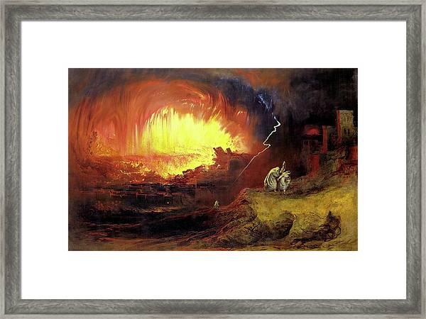 Destruction Of Sodom And Gomorah Framed Print