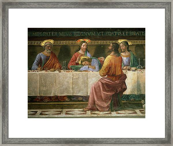 Detail From The Last Supper Framed Print