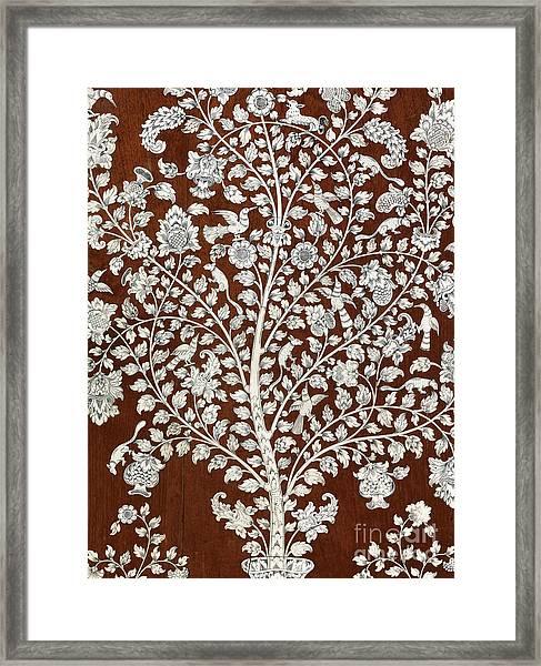 Detail Of A Vintage Botanical Pattern Framed Print
