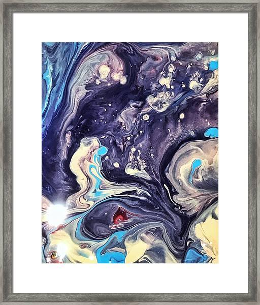 Detail Of Fluid Painting 1 Framed Print