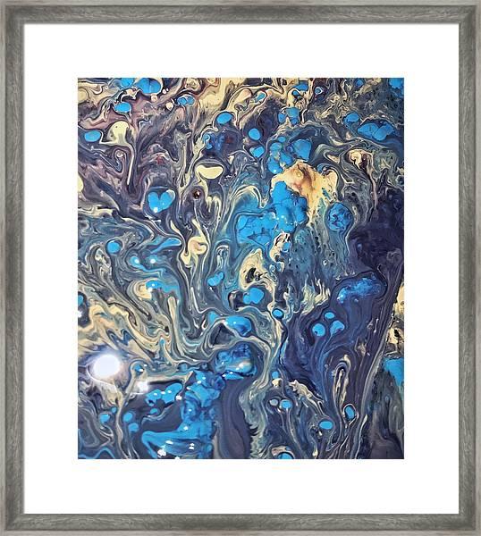 Detail Of Fluid Painting 3 Framed Print