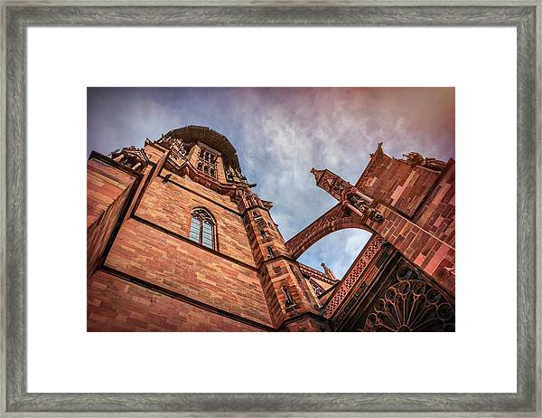 Detail Of Freiburg Cathedral Germany  Framed Print