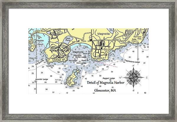 Detail Of Magnolia Harbor Framed Print