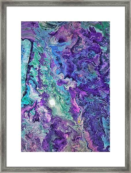 Detail Of Waves Framed Print
