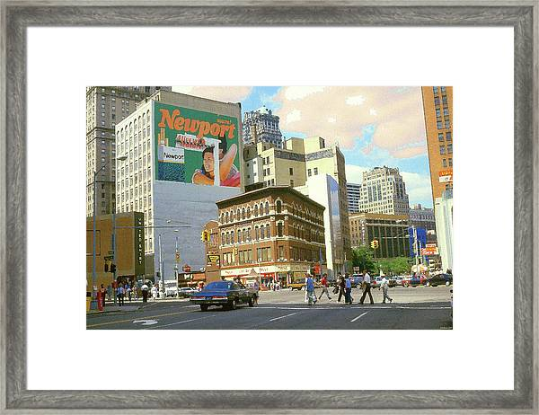 Detroit Michigan 84 - Watercolor Framed Print