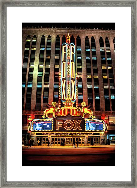 Detroit Fox Theatre Marquee Framed Print