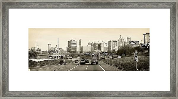 Detroit Michigan Framed Print