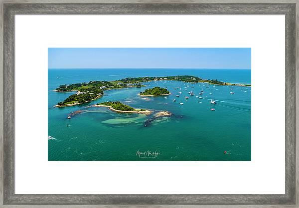 Devils Foot Island Framed Print