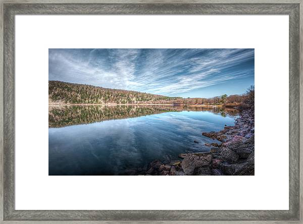 Devils Lake Framed Print