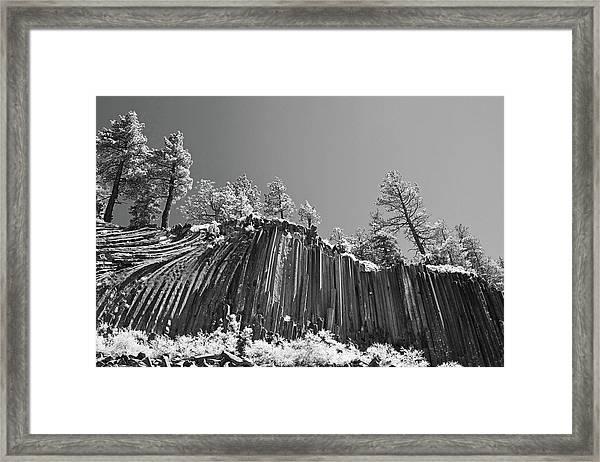 Devil's Postpile - Frozen Columns Of Lava Framed Print