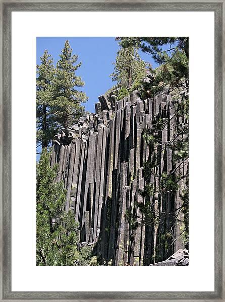 Devils Postpile National Monument - Mammoth Lakes - East California Framed Print