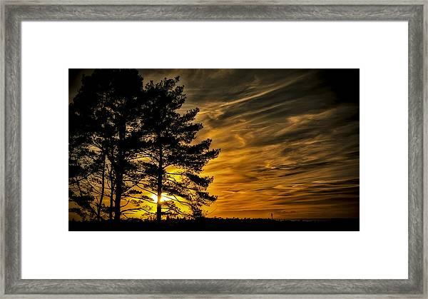 Devils Sunset Framed Print