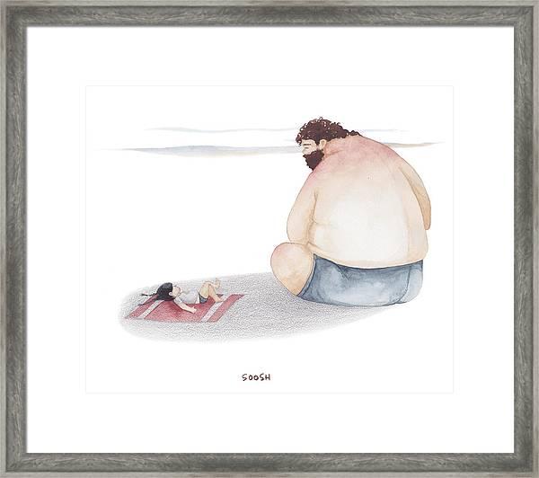 Devoted Father Framed Print