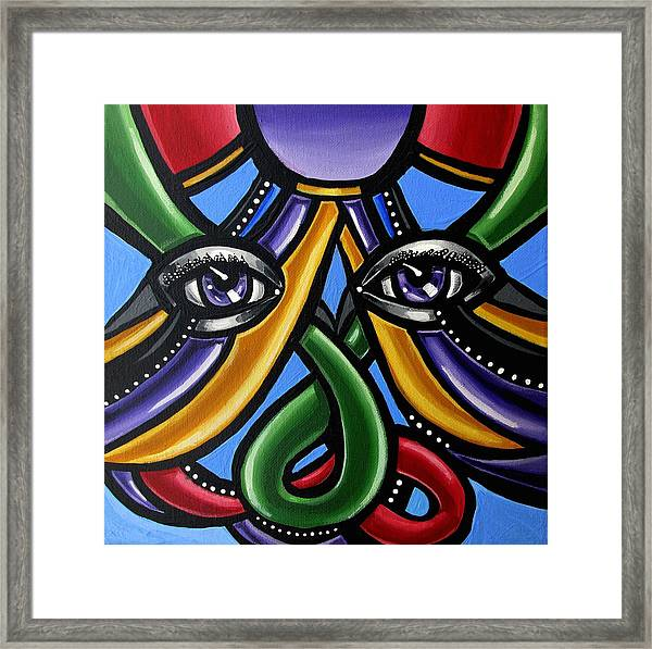 Colorful Eye Art Paintings Abstract Eye Painting Chromatic Artwork Framed Print