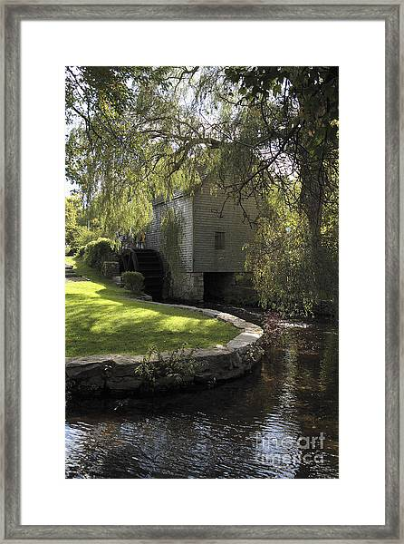 Dexter Mill Race In Sandwich Massachusetts Framed Print